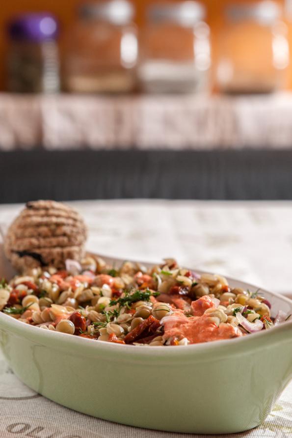 salată de linte germinată
