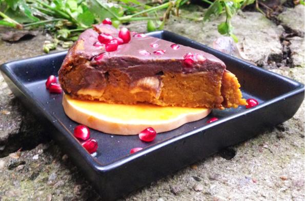 tarta vegană cu dovleac și ciocolată